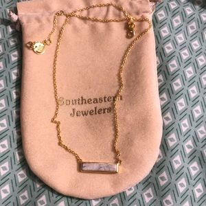 Marble Square Necklace